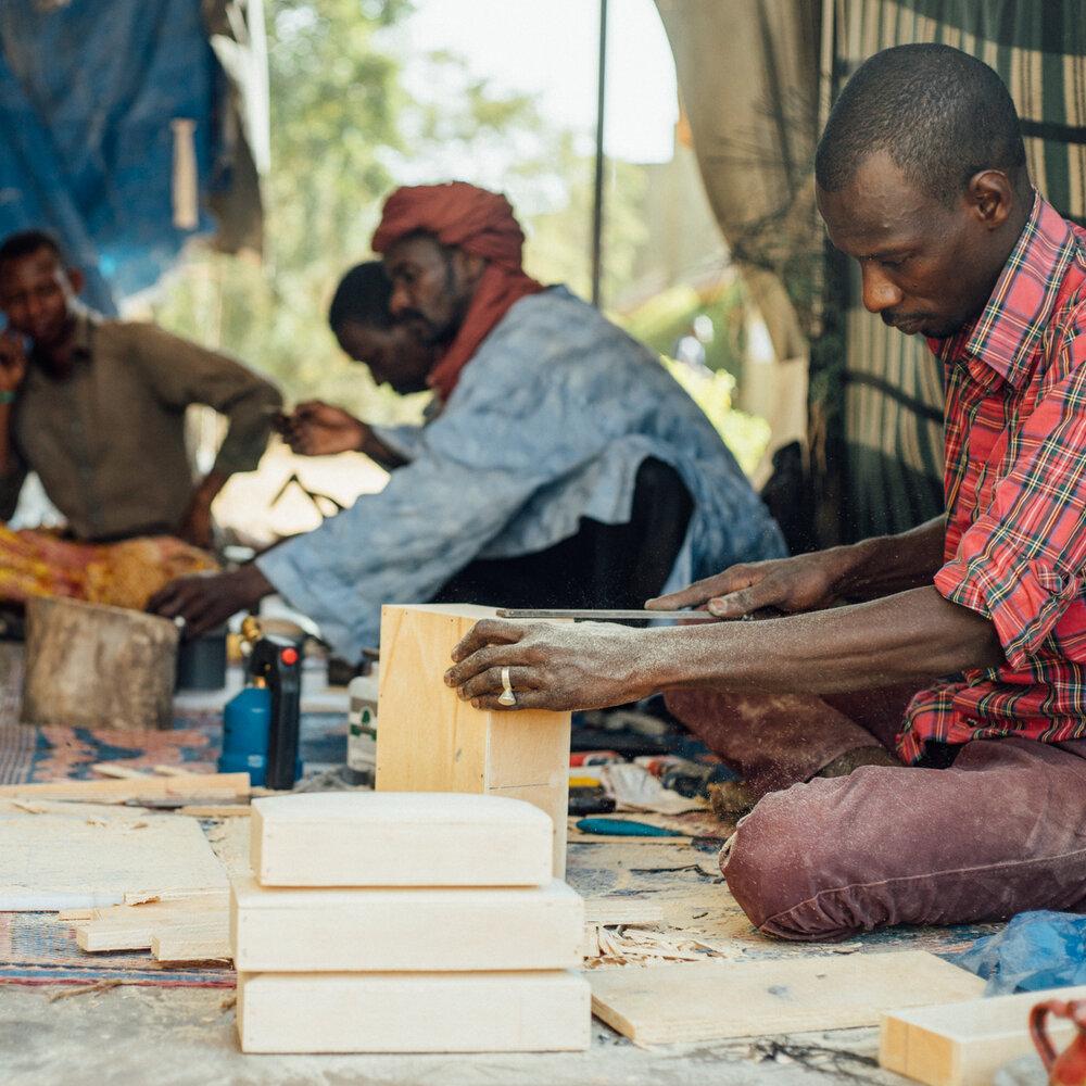 Tuareg artisans in Burkina Faso.