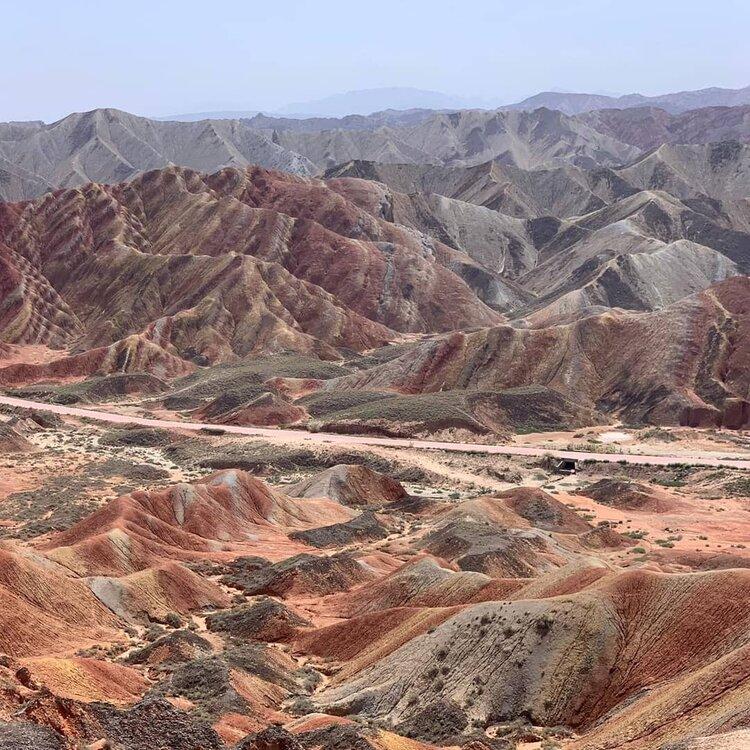 The Rainbow Mountains of the Gansu Province. Image: Loren Coxoto.