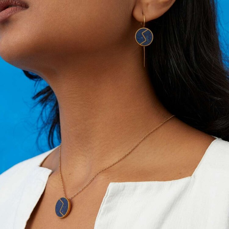 BALKH Drop Earrings  and  BALKH Pendant Necklace .