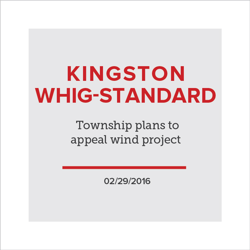 Township plans to appeal wind project