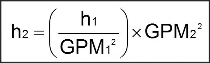 Hydronic balancing law equation.