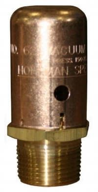Vacuum breaker allows condensate to drain into the trap.