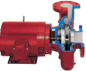 Close-coupled pump