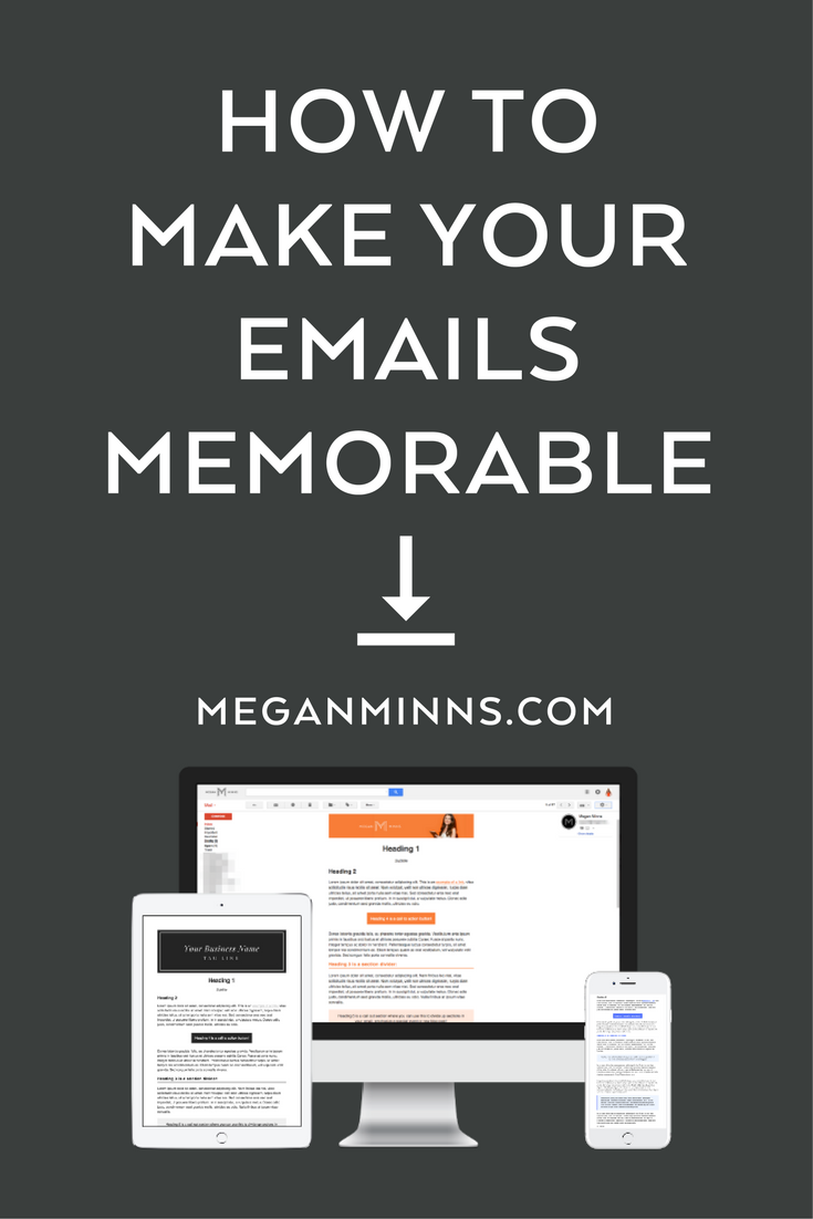 Getting in someone's email inbox is hard enough... So it's important that when one of your readers opens an email from you, they know instantly who it's from. There are three essential things your emails need in order to be recognizable and memorable... https://meganminns.com/blog/make-your-emails-recognizable