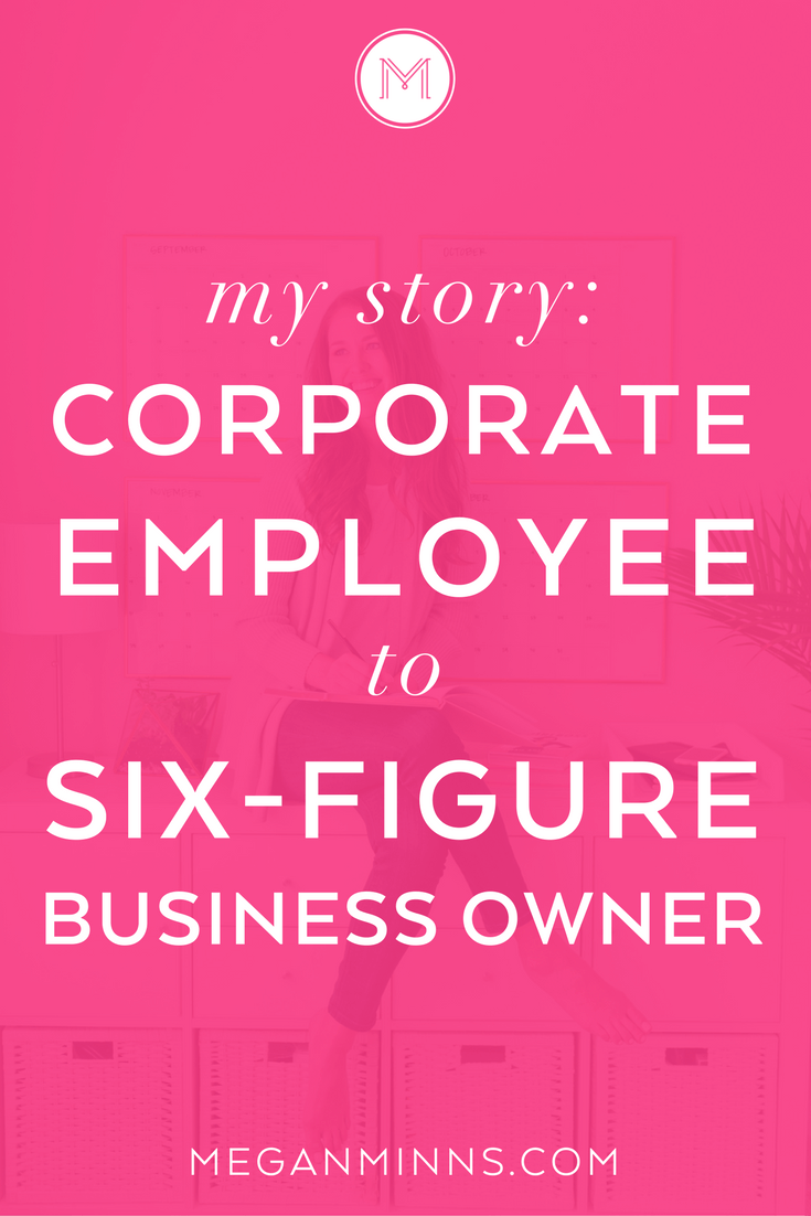 Want to know my business story? I'm sharing how I went from a corporate employee to a six-figure business owner and all of the changes and lessons that happened along the way. https://meganminns.com/blog/how-i-started-my-business