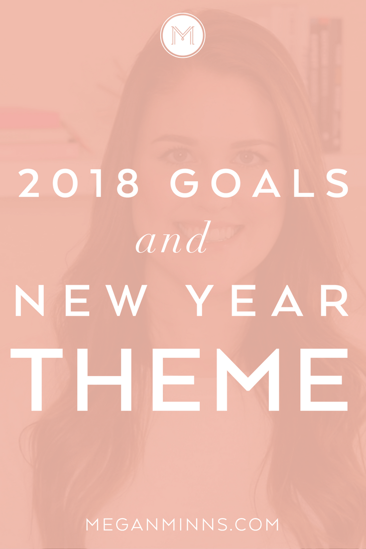 As 2017 comes to a close, I'm excited to share my new year theme and big goals for 2018. Plus, don't leave without downloading a free guide to set your own goals!