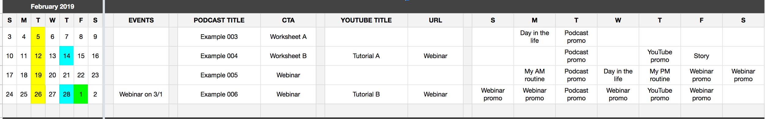 How to create a content calendar using Google Sheets - Megan Minns