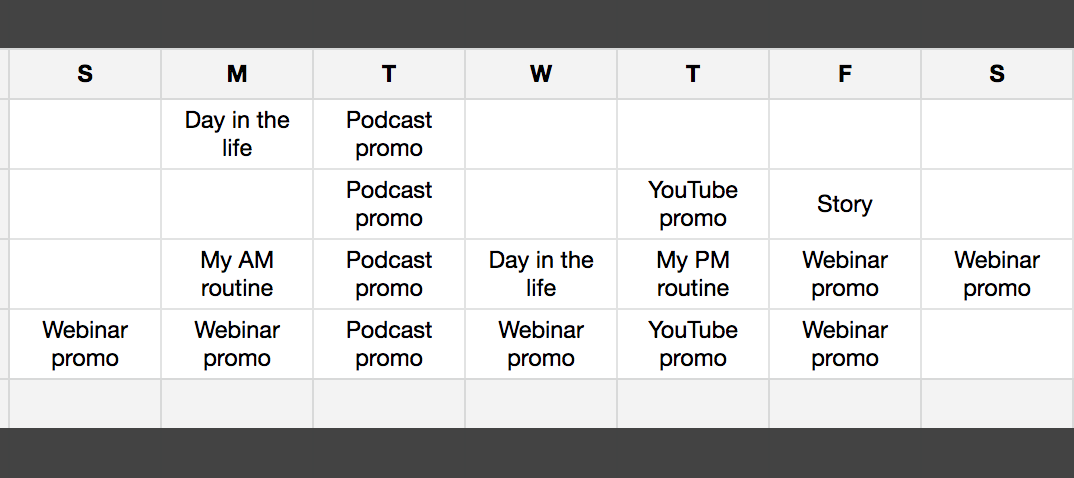 How To Create A Content Calendar Using Google Sheets Megan