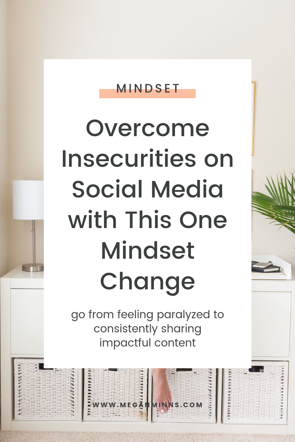 Creating and sharing content on any platform can be terrifying and bring doubts and insecurity to even the most confident people. That fear and insecurity held me back in business and in my life for so long, until I made this one, quick, simple, yet incredibly powerful mindset change.  TRANSFORM YOUR MINDSET HERE ✨  https://meganminns.com/blog/overcome-insecurities-on-social-media-mindset