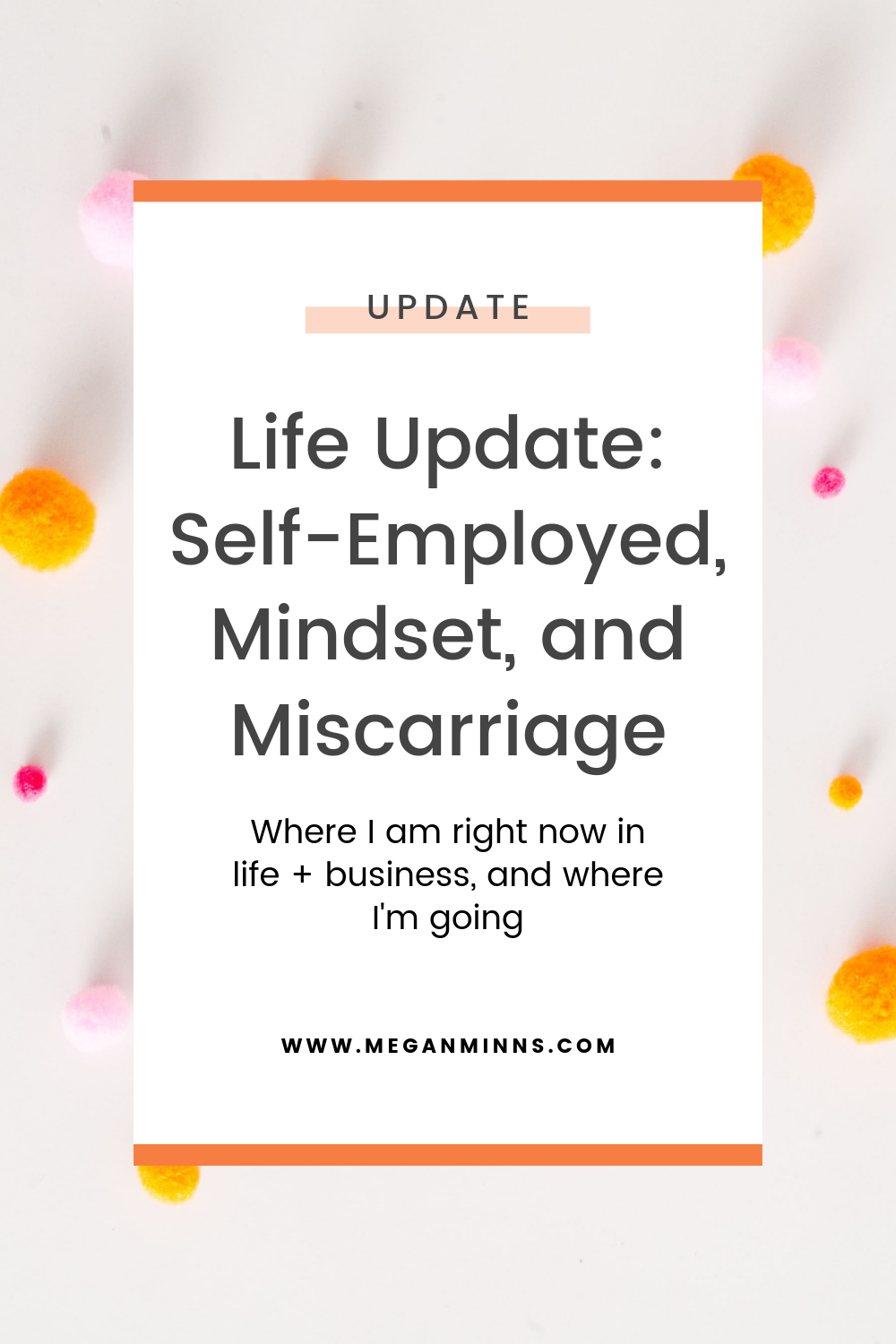 Full life update for 2019! What my business and life look like now, and what the future entails (hint: I'm now offering private coaching!). I talk all about going self-employed full time, my mindset, and sharing my very personal miscarriage story.  READ THE FULL BLOG POST HERE ➡️ https://meganminns.com/blog/life-update-2019