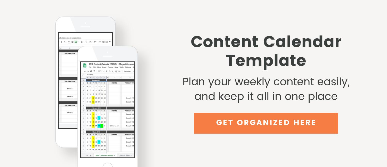 Content Calendar Template - Megan Minns