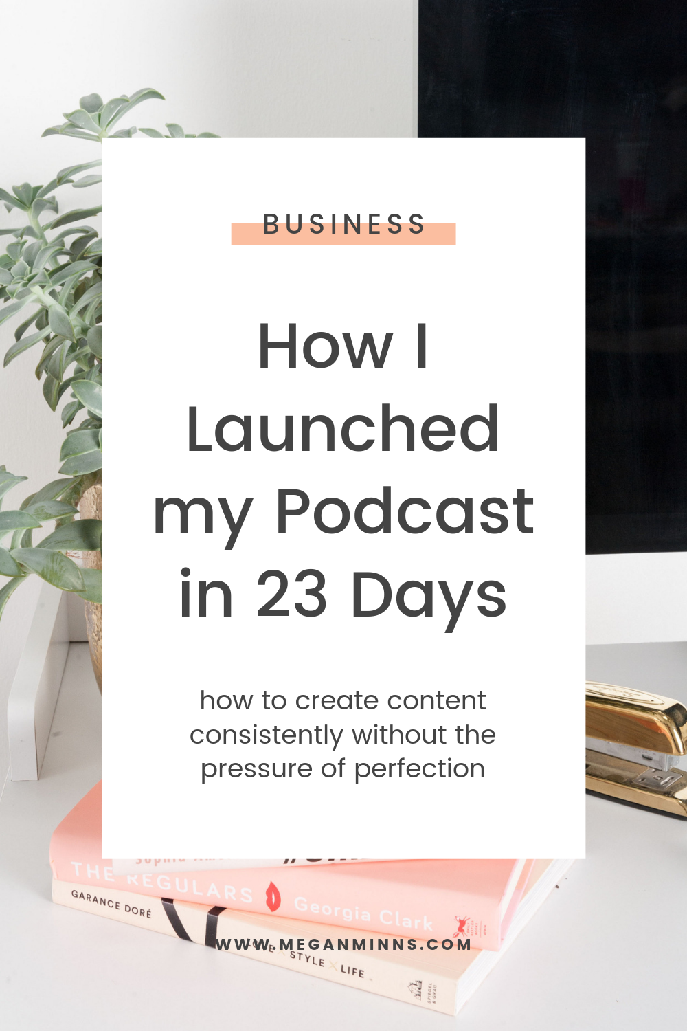 Curious about all the things that go on behind the scenes while launching and producing a podcast? From how to plan your content, to what tools to use, I'm sharing all the details in this episode and sharing how I ditched perfectionism for a simple, streamlined podcast launch that I'm super proud of.   If you're feeling stuck on how to create content consistently without the pressure of perfectionism, keep listening, and be sure to grab the Content Calendar Template!  READ THE FULL BLOG POST ➡️ https://meganminns.com/blog//how-i-launched-my-podcast