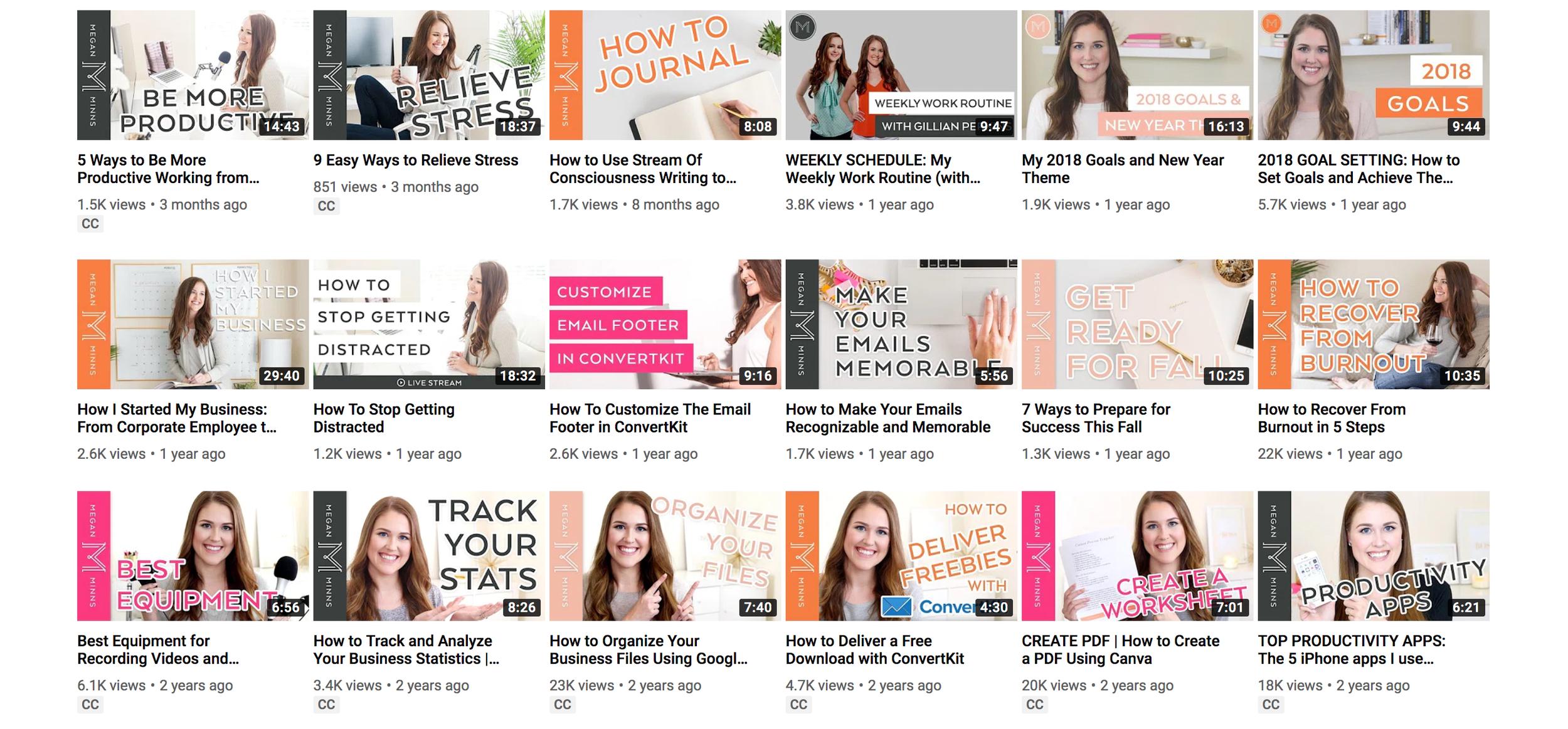 Megan Minns YouTube Channel
