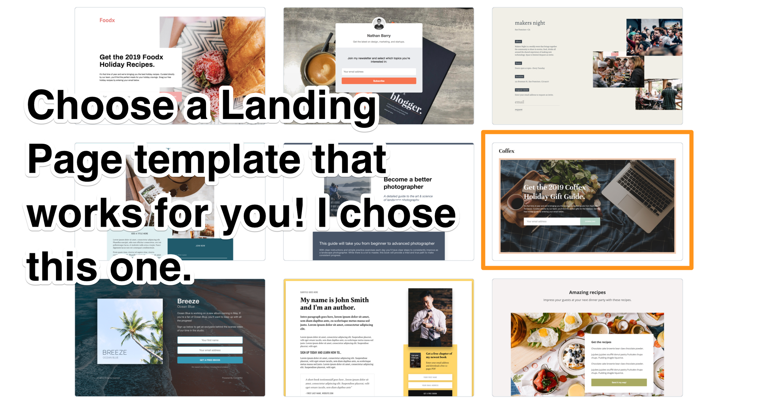 17. Choose a landing page - ConvertKit Tutorial 2019 - Megan Minns