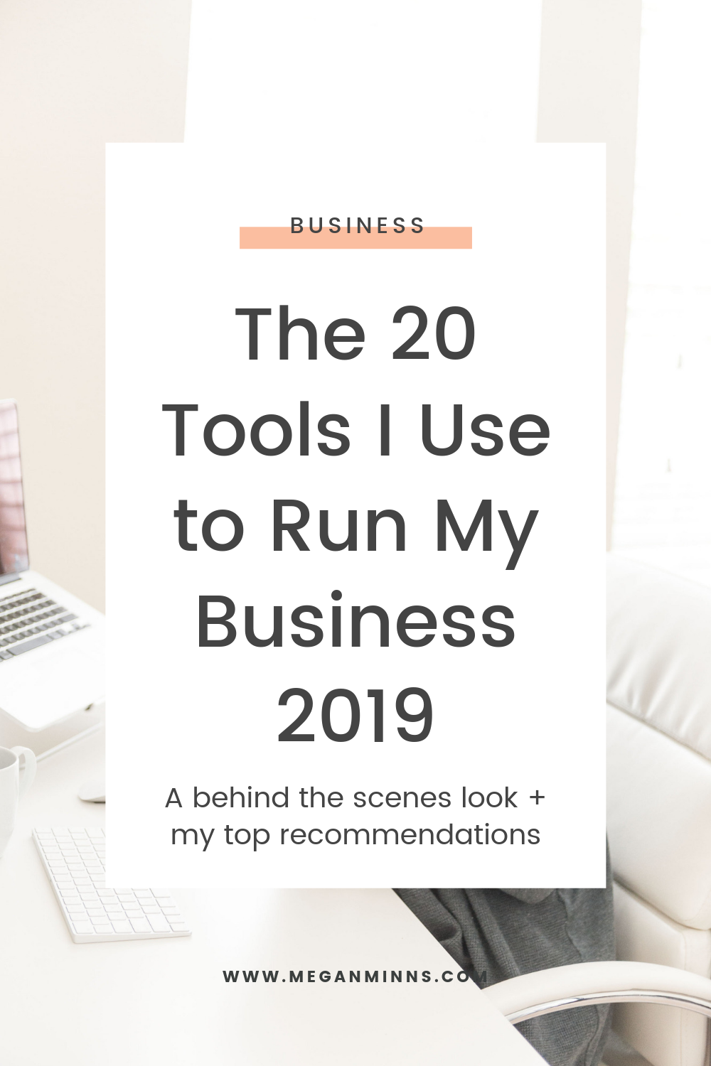I'm a systems geek at heart, so I wanted to give you an updated rundown of the best business tools I'm currently using and share a little bit about them.  Learn about the 20+ business tools I'm using in 2019. Some of them might surprise you!  READ THE FULL POST HERE:  https://meganminns.com/blog/tools-to-run-business-2019