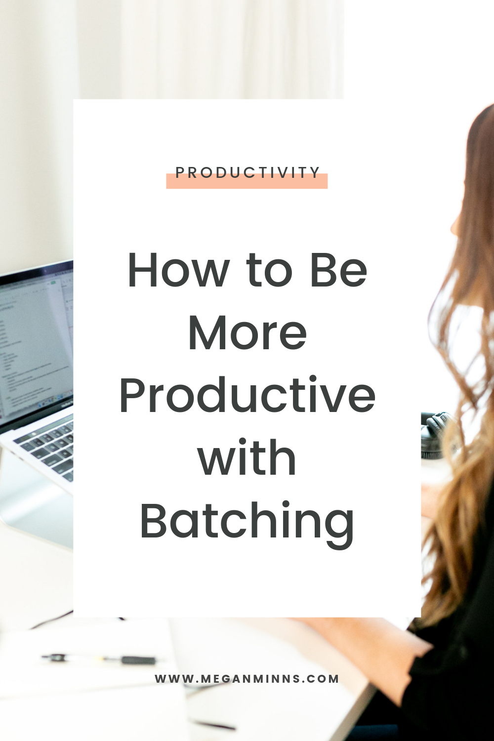 I'm sharing my absolute favorite productivity techniques, batching. Batching really is the way to make doing anything in your business easier and faster.  You can be more productive with batching in a lot of different ways. I'm going to use content creation as my example, but get creative and start thinking of all the things that you do on a regular basis that you can start batching.  You might be surprised by how much time you can start saving!  READ THE FULL BLOG POST ➡️ https://meganminns.com/blog/batching