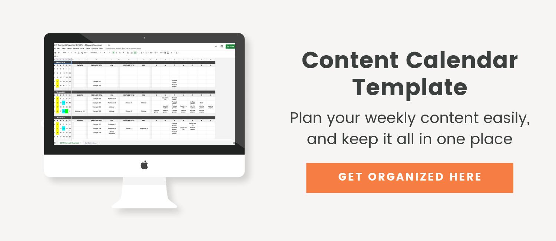 Content Calendar Spreadsheet - Megan Minns