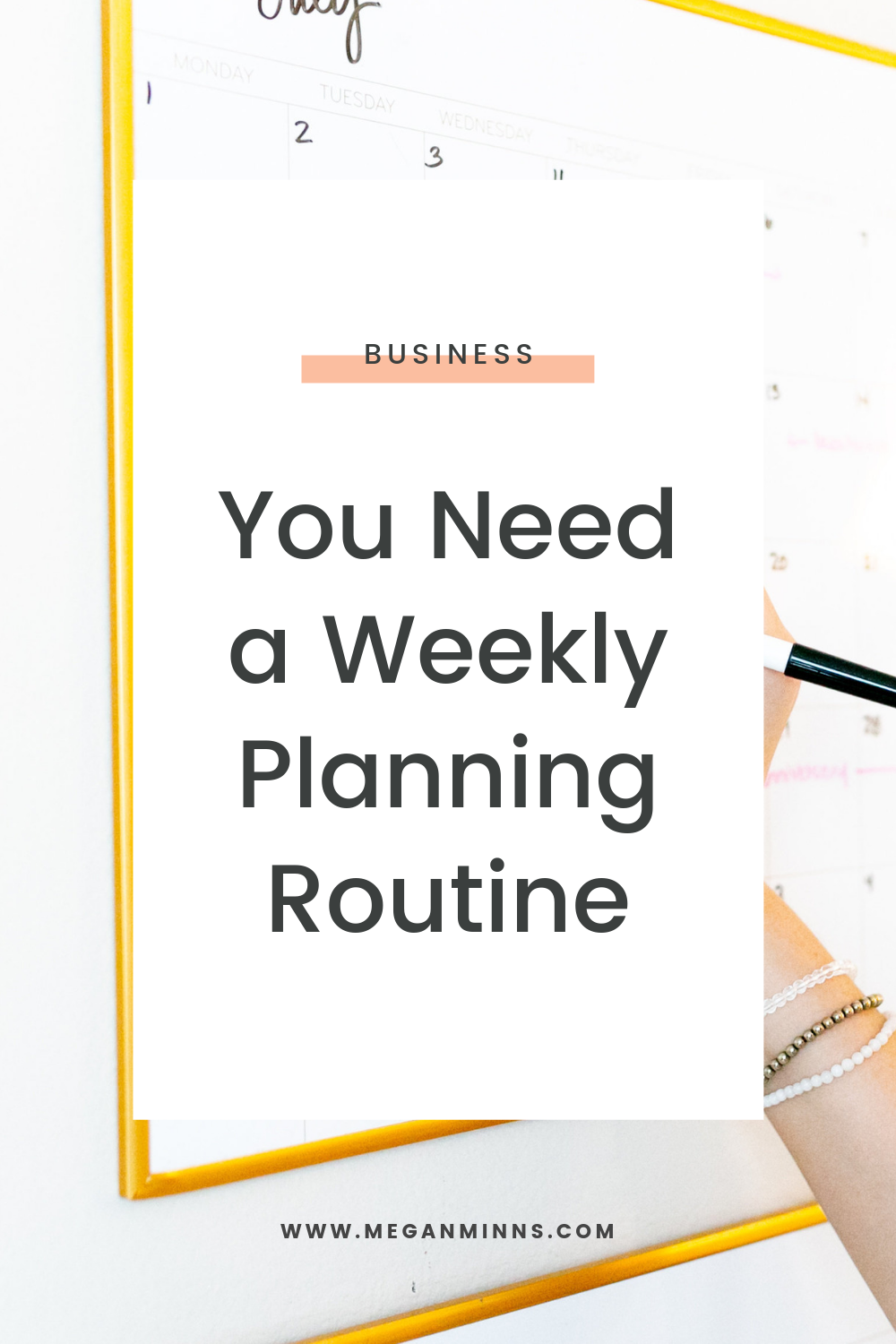 In this episode, I'm sharing what my weekly planning routine looks like and the steps you can do to create yours.   Having a weekly planning routine will anchor your week with intention and set yourself up for success.   Don't forget to also grab the free Weekly Planning Checklist to get started now!  DOWNLOAD THE FREE WEEKLY PLANNING CHECKLIST ➡️ https://meganminns.com/blog/weekly-planning-routine