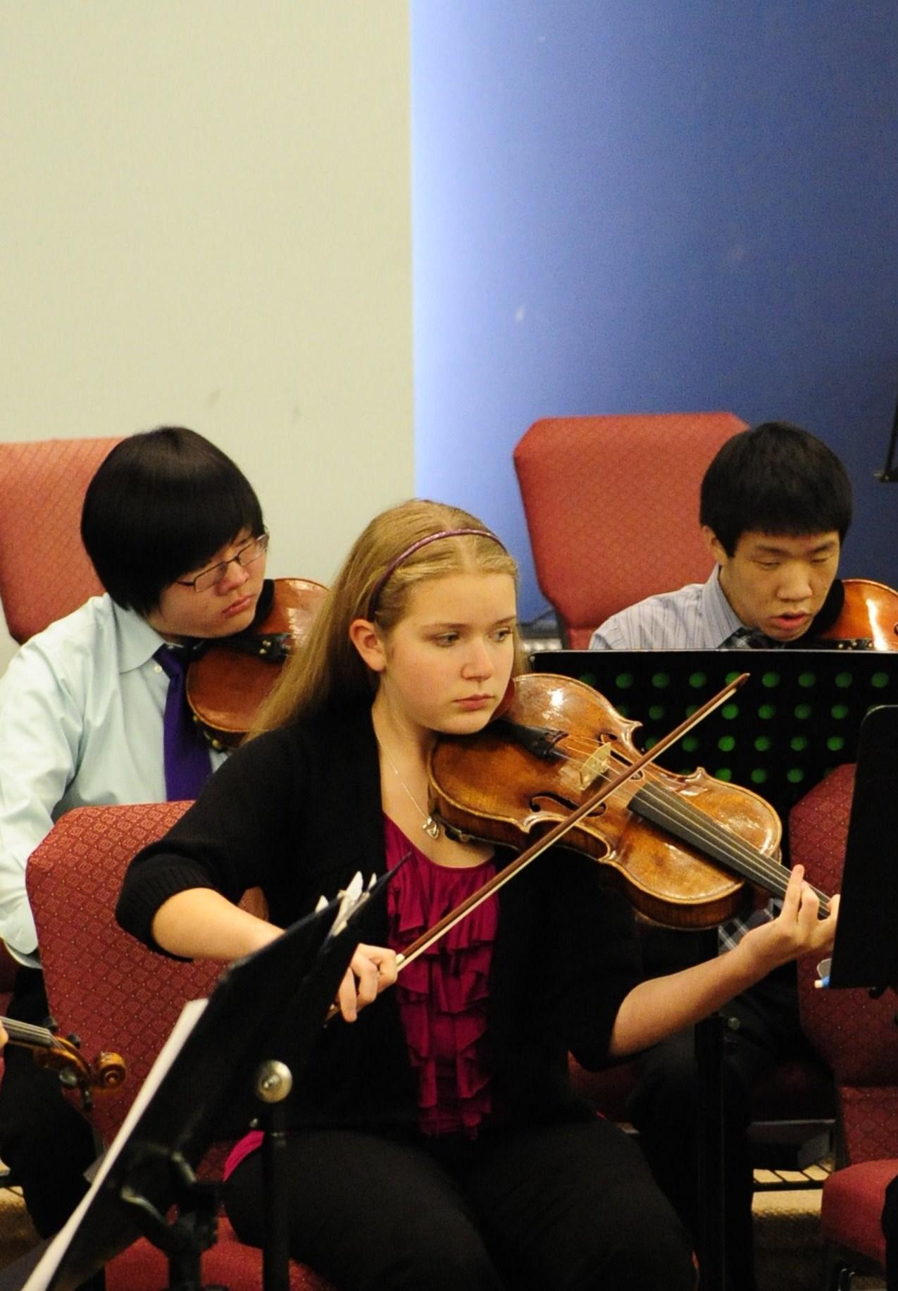 An intense viola section