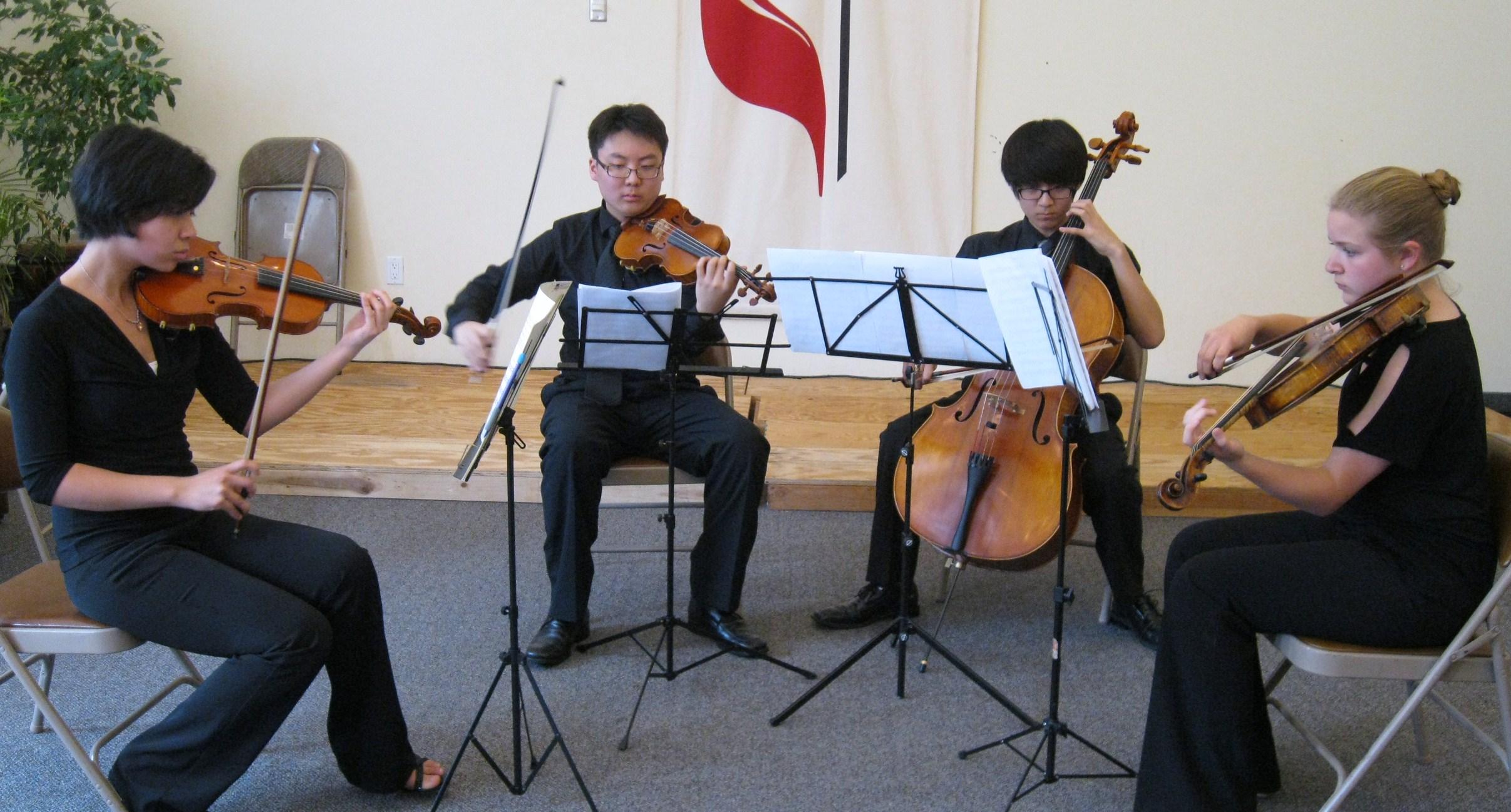 Rehearsing the Smetana String Quartet