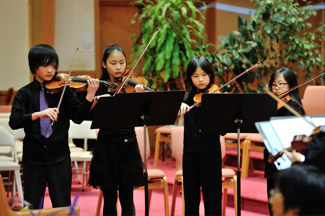 Wonderful young violinists