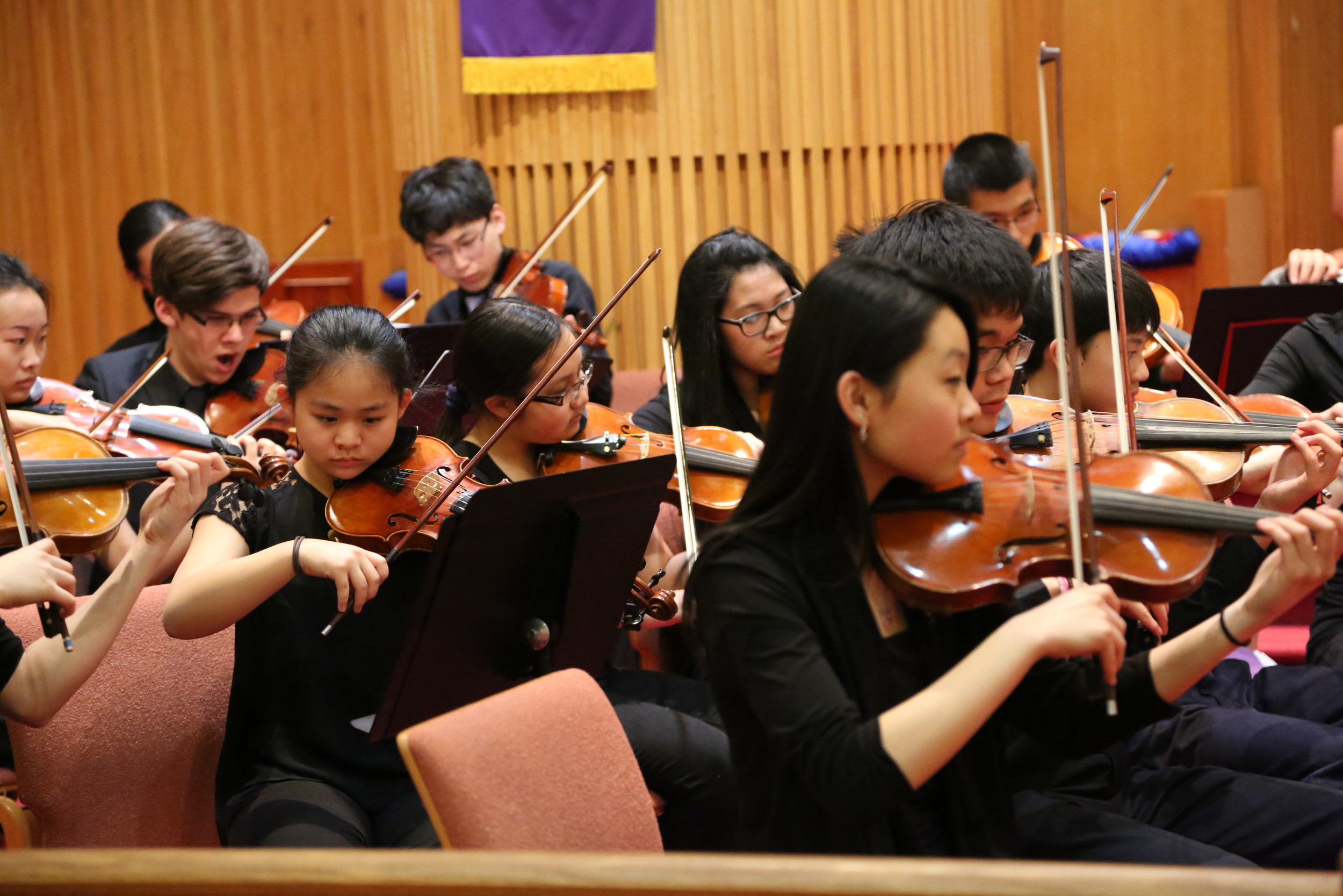 Katie Liu leading the orchestra