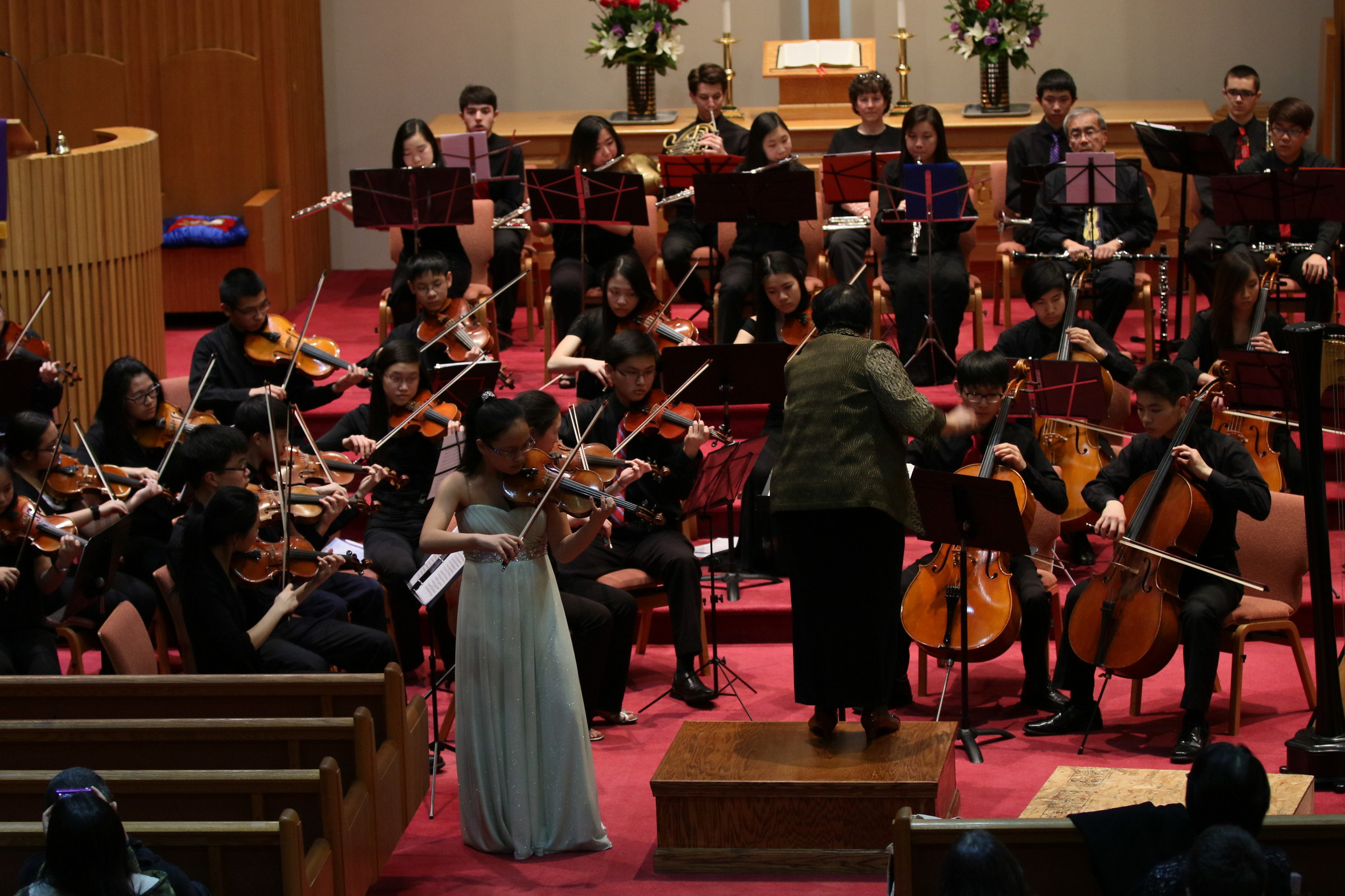 Tienne Yu soloing on a Mozart Violin Concerto