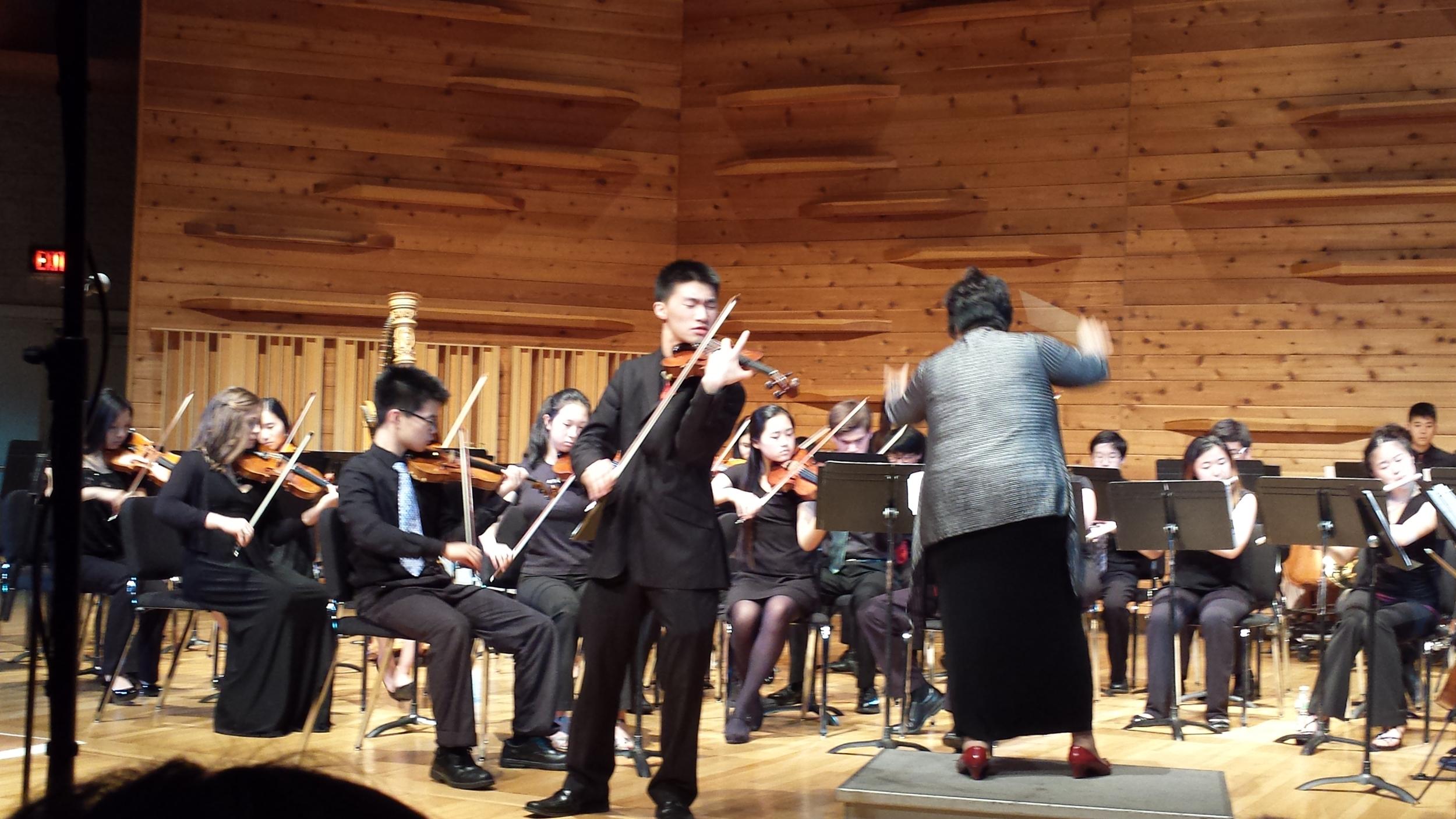 Matthew Liu soloing