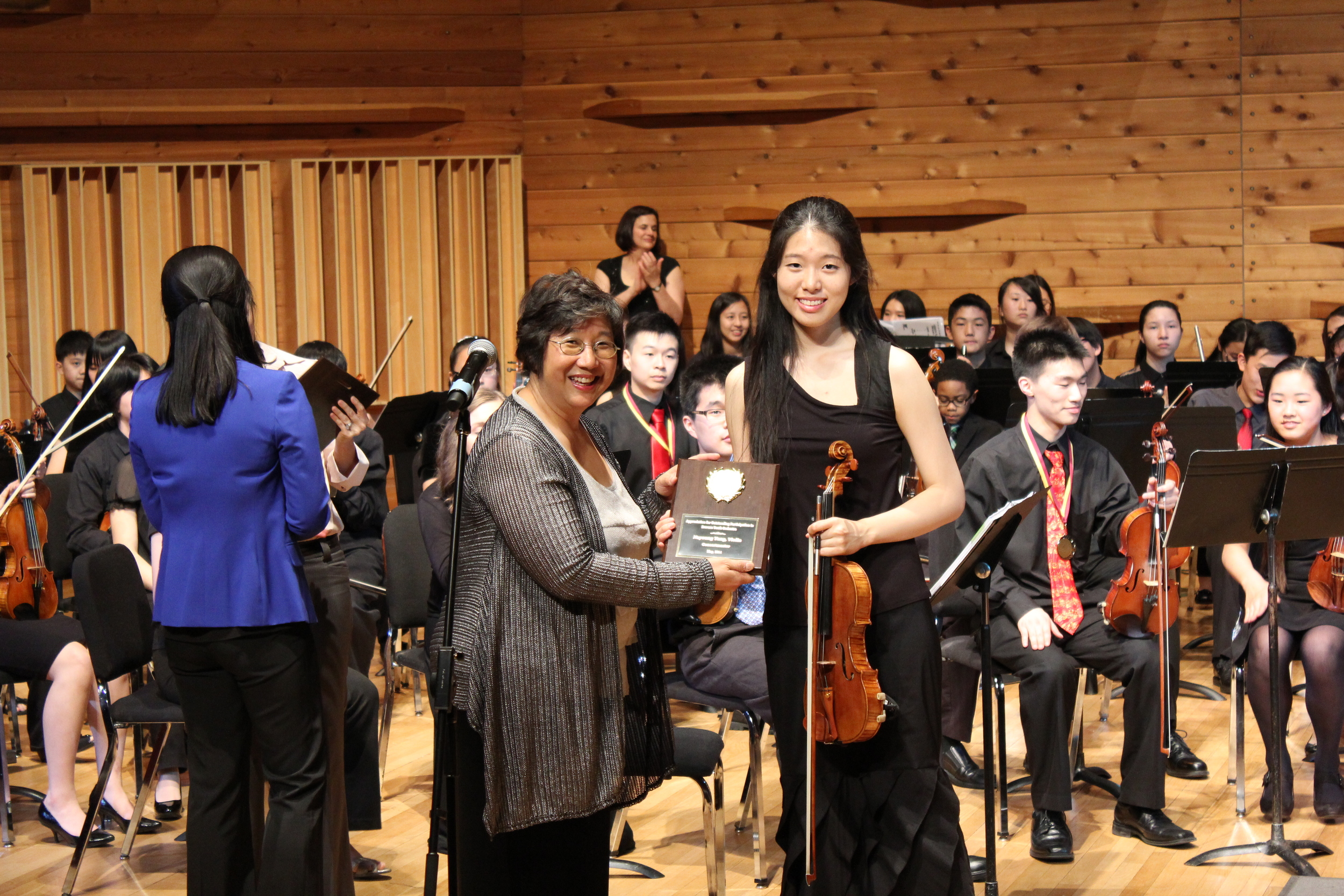 Acknowledging Nayoung Yang, concertmaster 2012-2014