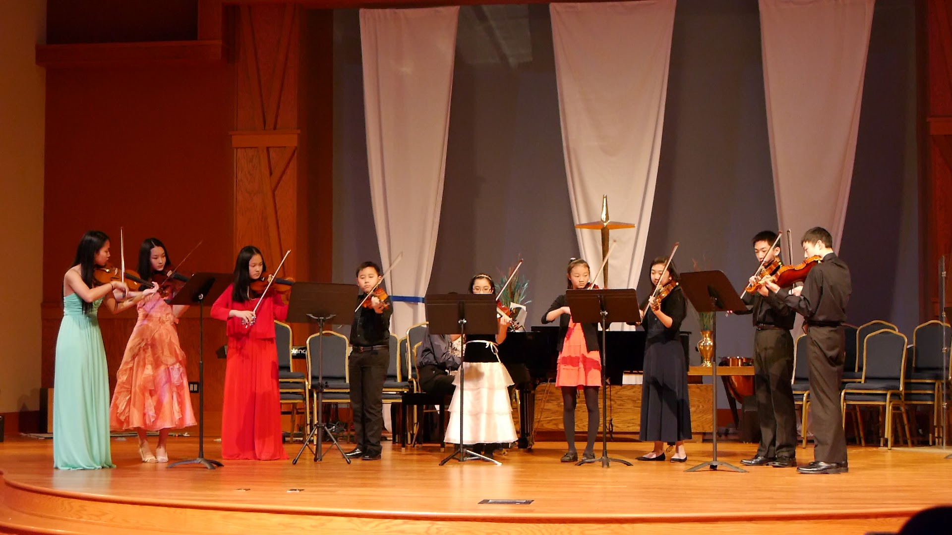 The first of our two violin ensembles