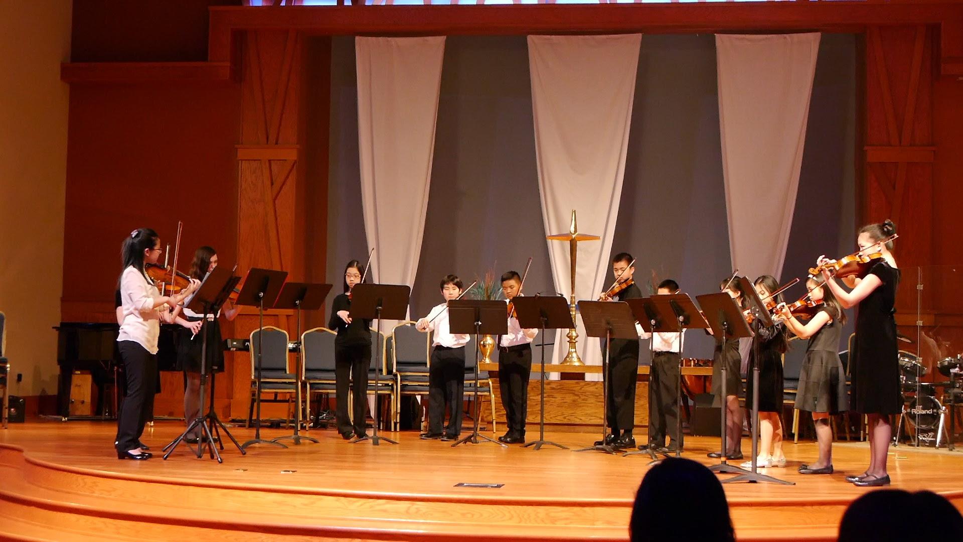 The second violin ensemble!