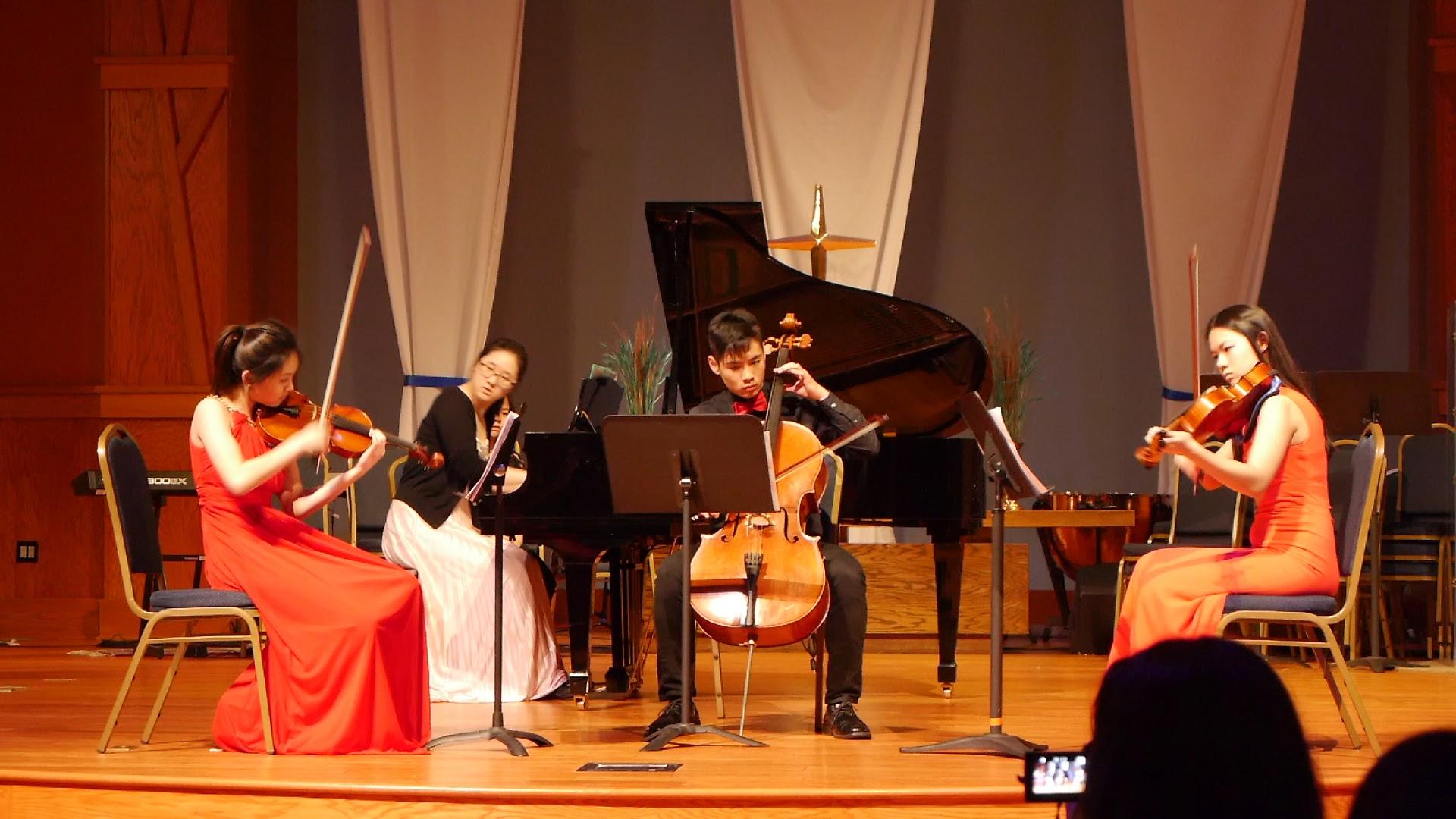 Our amazing Dvorak piano quartet