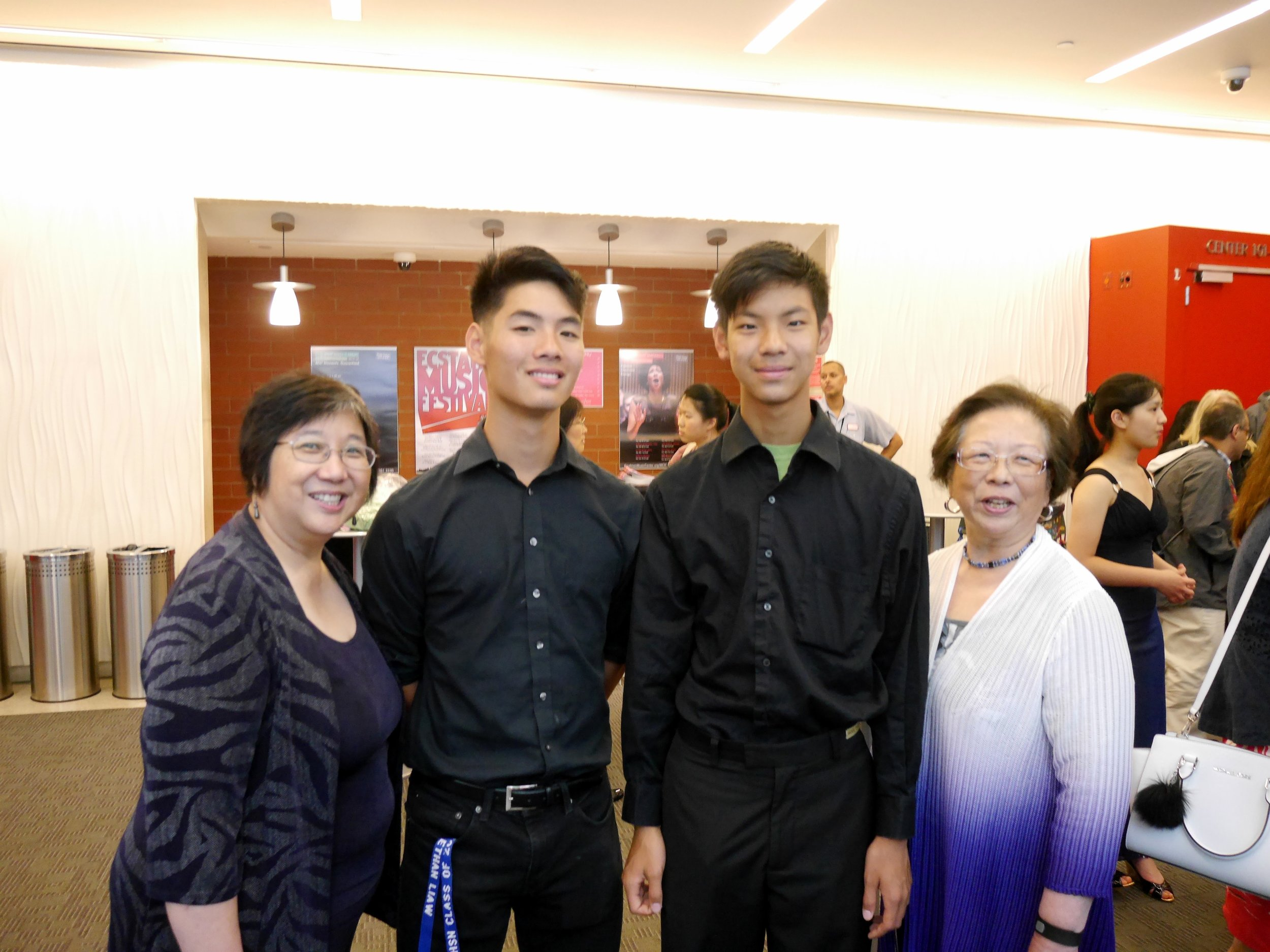 Liaw boys and Lin sisters
