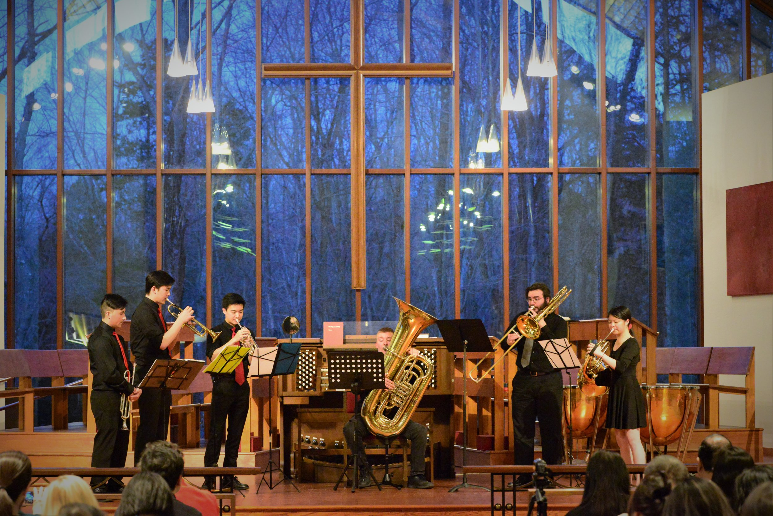 Wind Ensemble performing Brass Quintet No. 1 by Victor Ewald