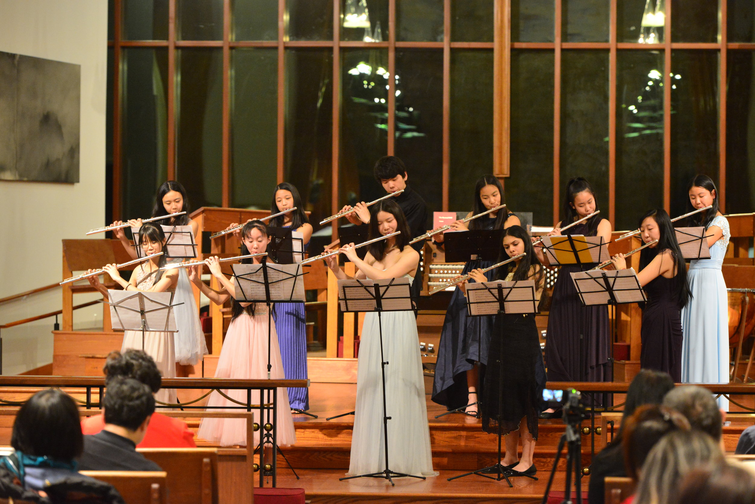 Flute Choir performing The Arrival of Queen of Sheba by G.F. Handel
