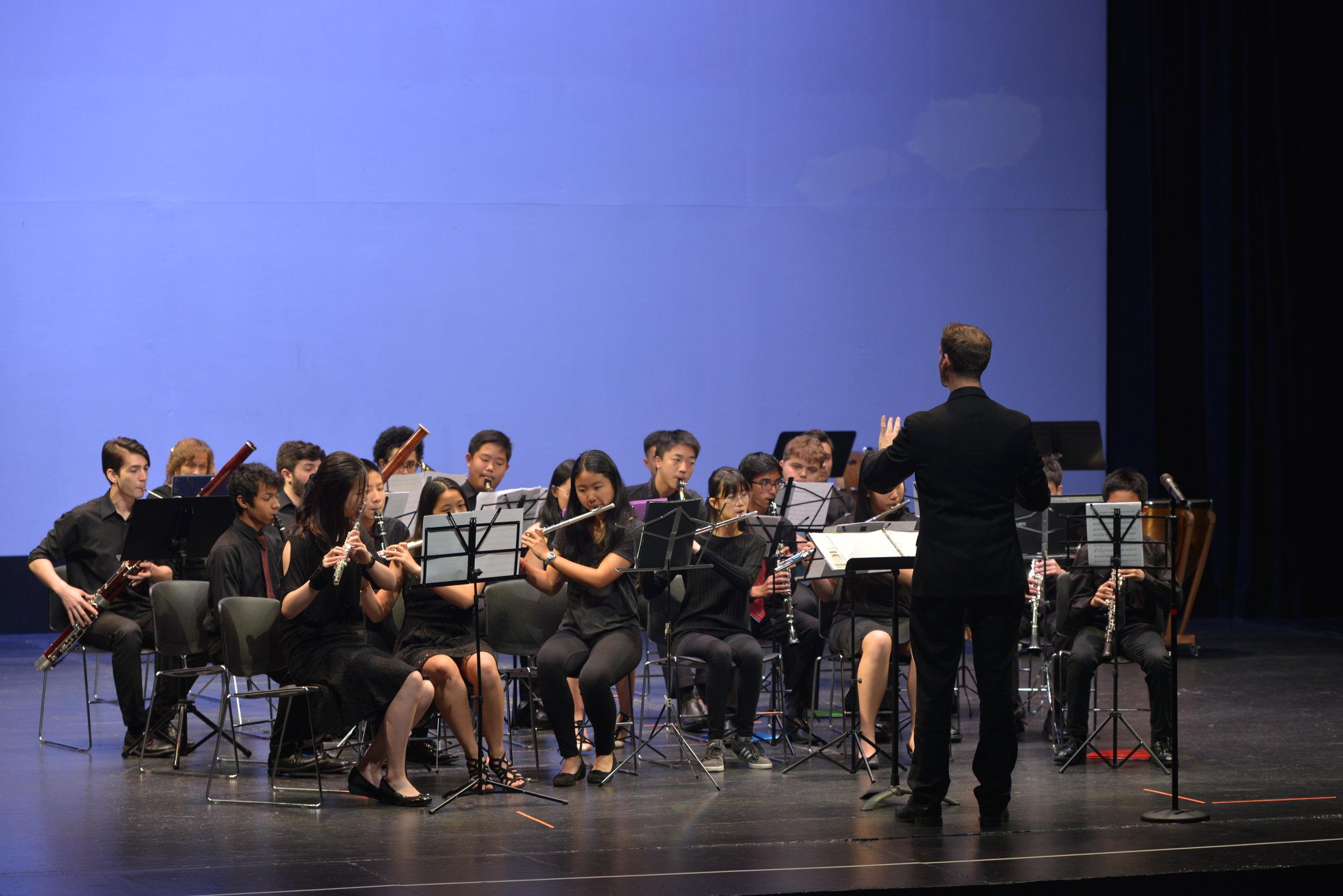 Mr. Hansel conducting the Wind Ensemble