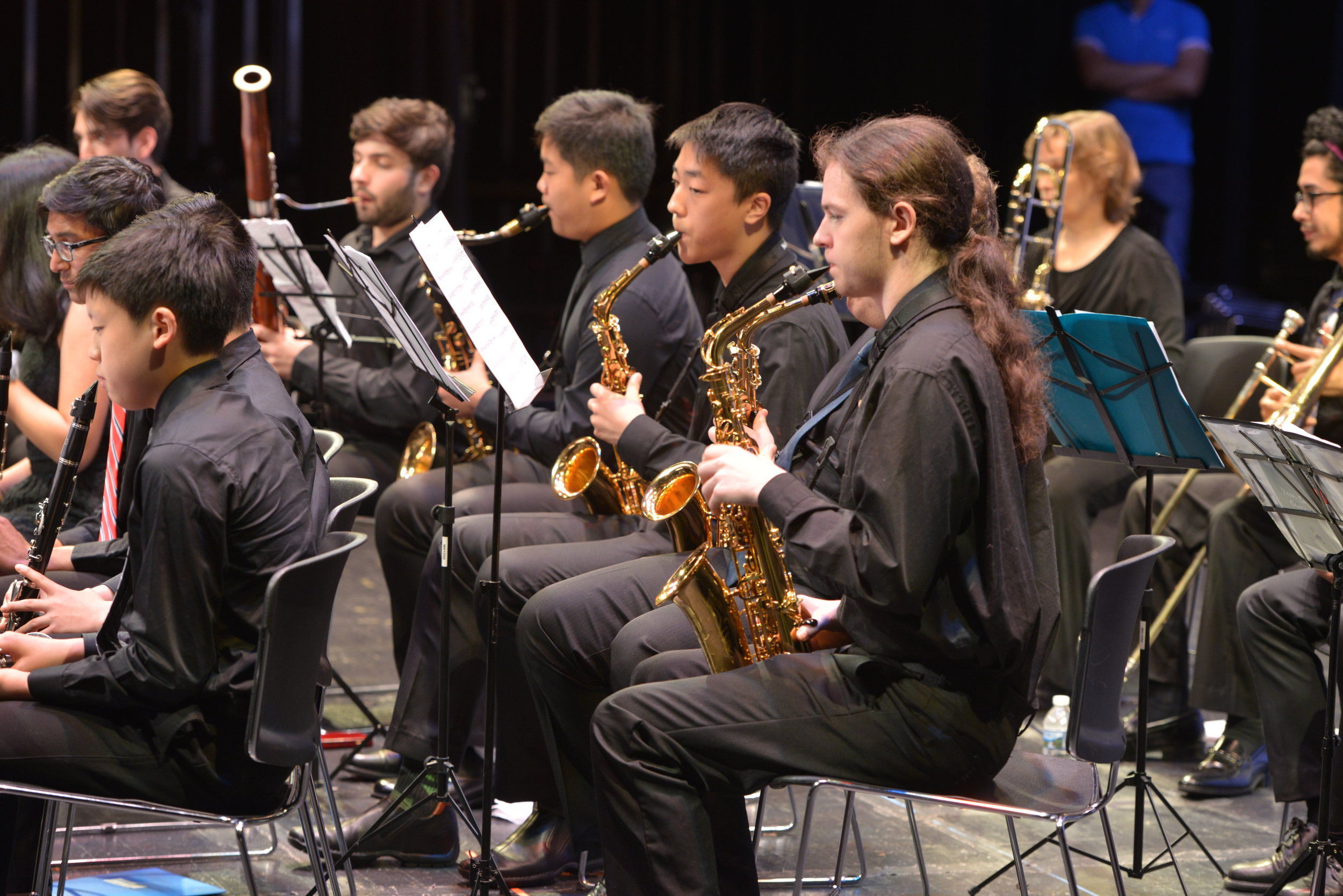 Saxophone section of the Wind Ensemble
