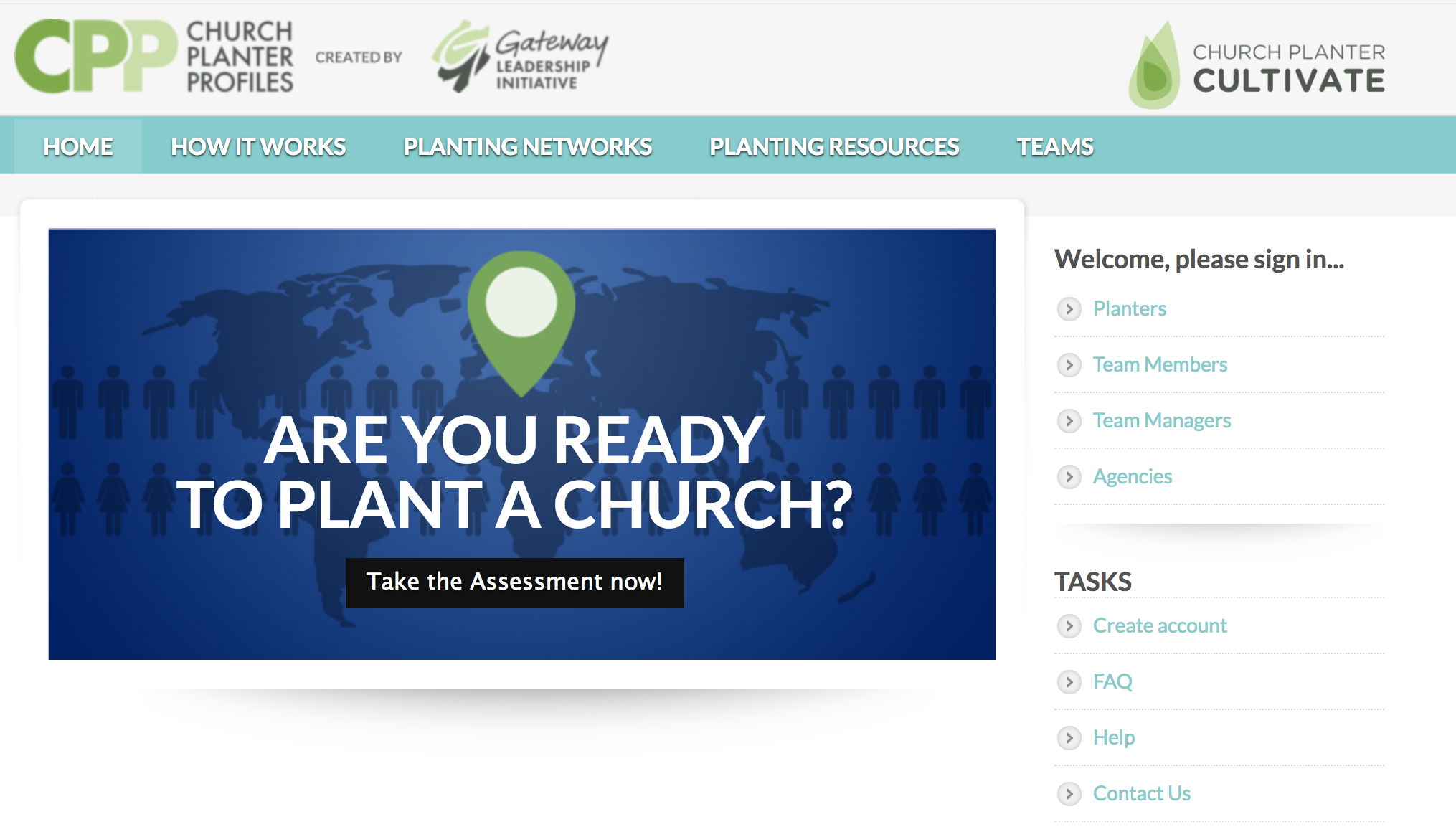 "To receive your Initial Screening Assessment from Church Planter Profiles:   1. Register for a new account.  2. Under the question, ""Are you already working with an agency?"" choose ""Yes -- I was asked to complete a profile by a church planting agency.""  3. Under the agency option, choose ""AG Church Multiplication Network.""  4. Complete your registration. Your Initial Screening Assessment will be $9.99."
