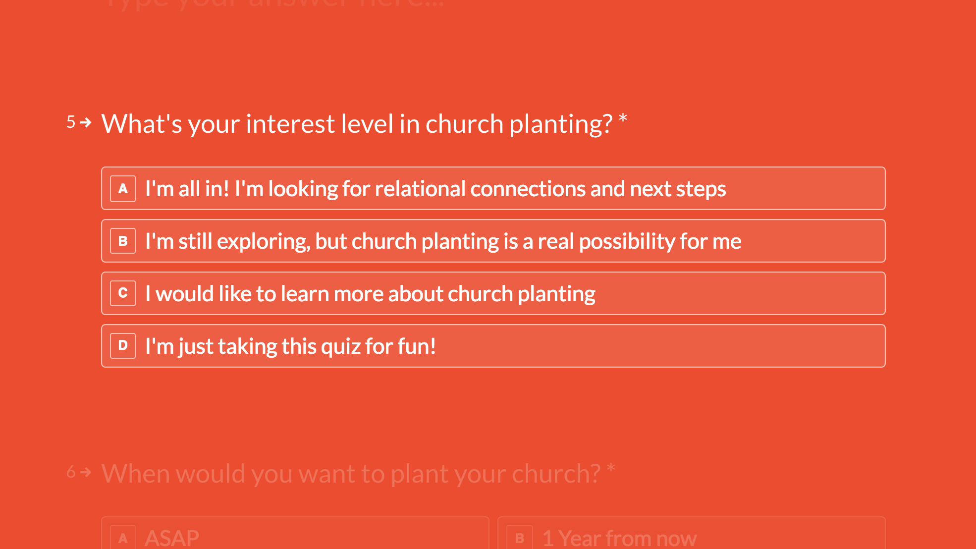 Since iwanttoplantachurch.com was created in August 2017, 786 potential church planters have filled out their initial church planting quiz and have been connected to a CMN Rep in their district.