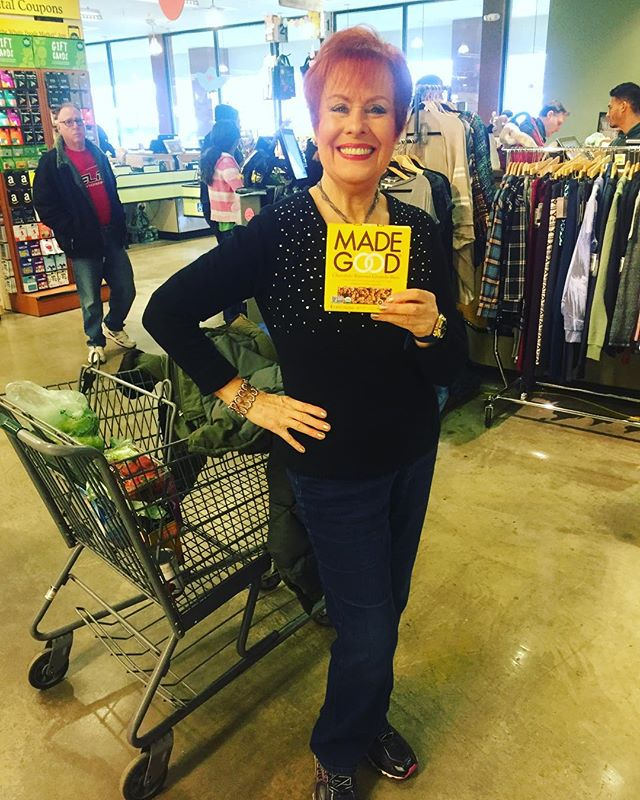 What a star!! How does this 77 year old beauty stay young and energetic? @madegoodfoods, of course!! Today is the final day of @wholefoods promo.. Grab a box for $3.49! #loveher #glutenfree #vegan #organic #nongmo #sale #snacks #schoolsafe #allages