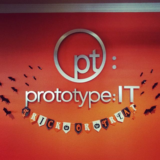 We're having a fun time dressing up our office for Halloween tomorrow!
