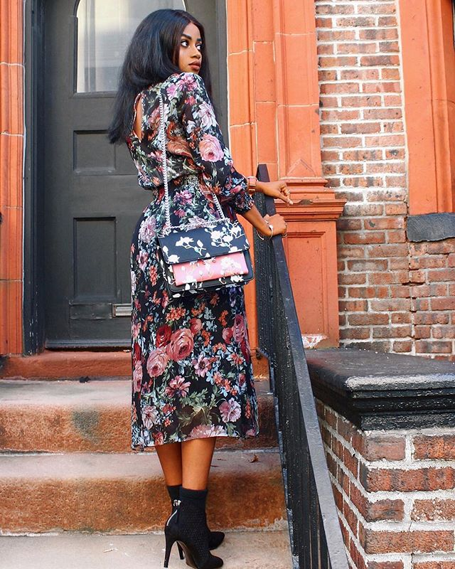 For summer midi floral👗's | Shop link in bio 👆🏾👉🏾 http://liketk.it/2w3Zt #liketkit