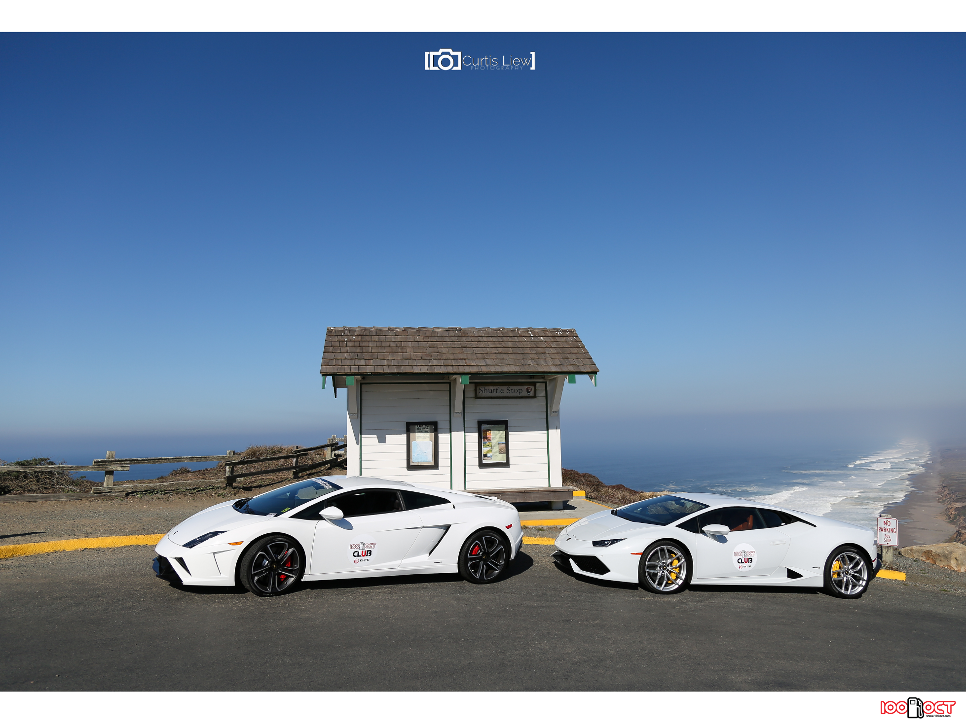 Lamborghini V10 siblings at the end of the world! Credits: Curtis Liew