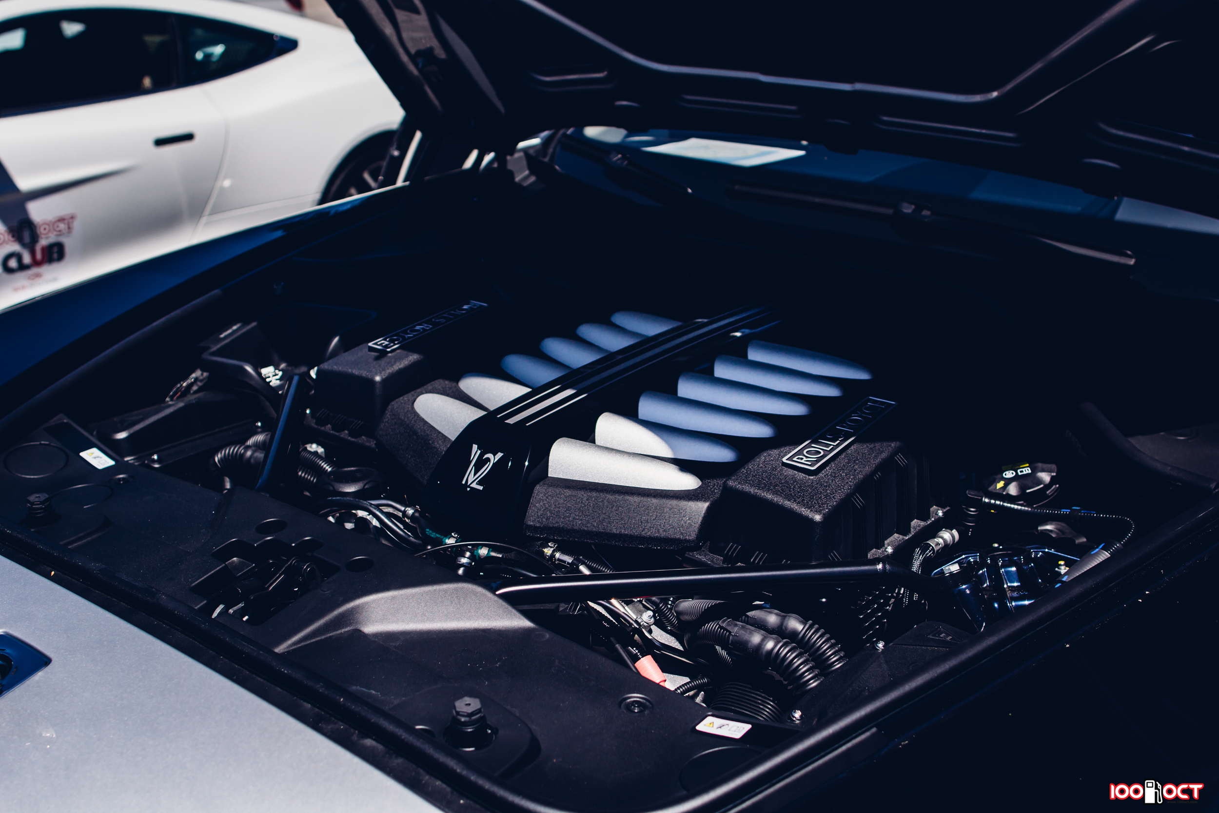 The magnificent twin-turbo 6.6 liter V12 engine putting out 624 hp and 590 lb ft of torque. Credits: Dayne Dyer