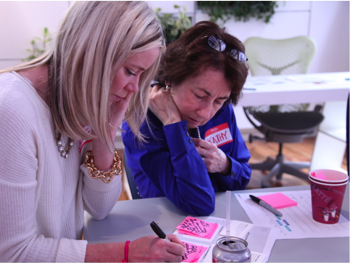 Fitsi co-founder Kathleen Puri working with nurses in an innovation session.