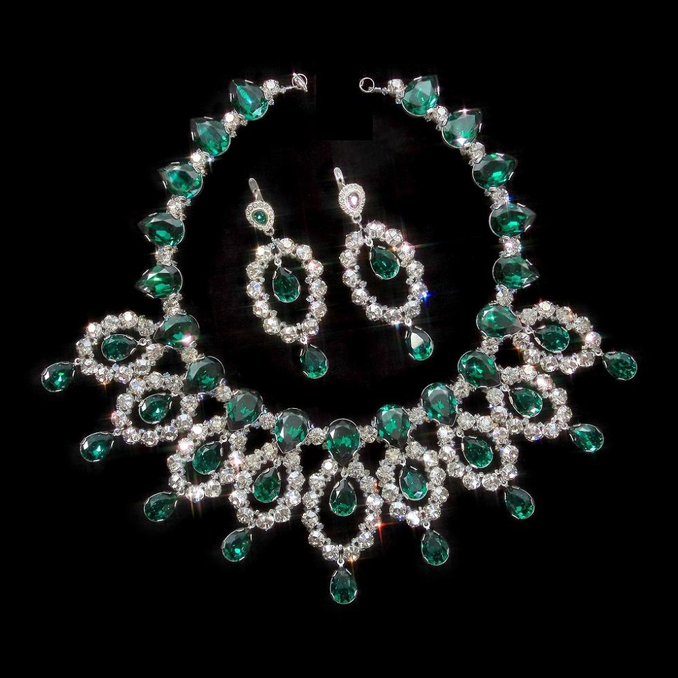 Collana Cubic smeraldo