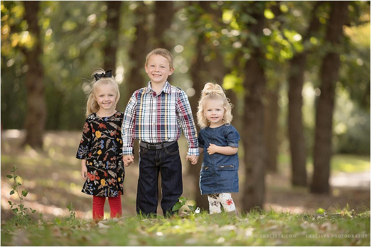 Fall Colored Siblings