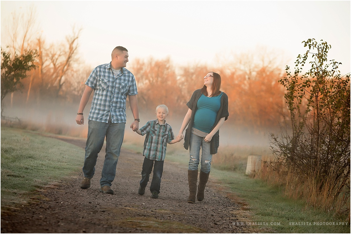 Family walk in the park