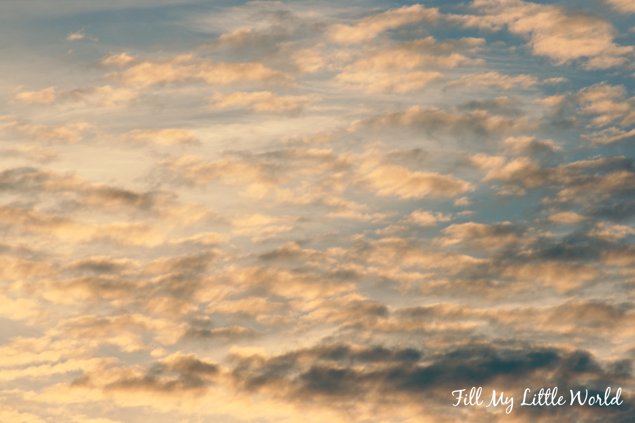 Fill My Little World sky clouds