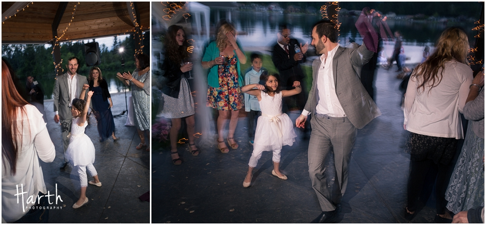 Flower Girl and Groom Dancing - Harth Photography